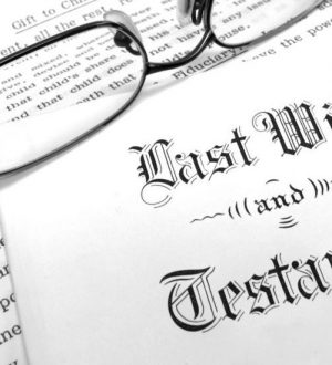 Envelope with Last Will and Testament